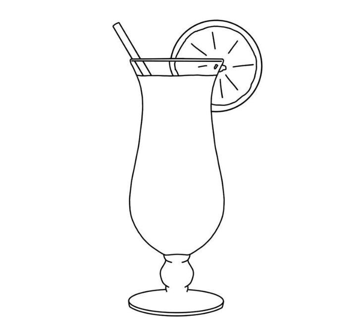 Signature drink template for watercolor painting