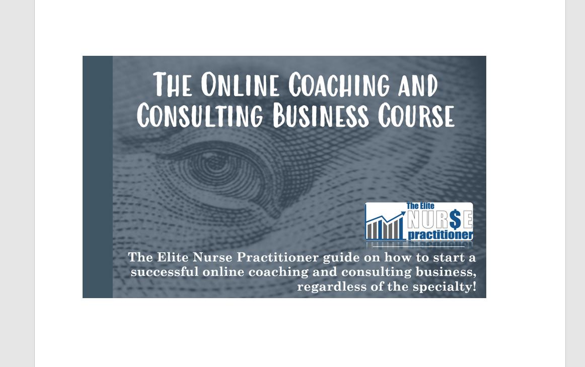 health coaching course