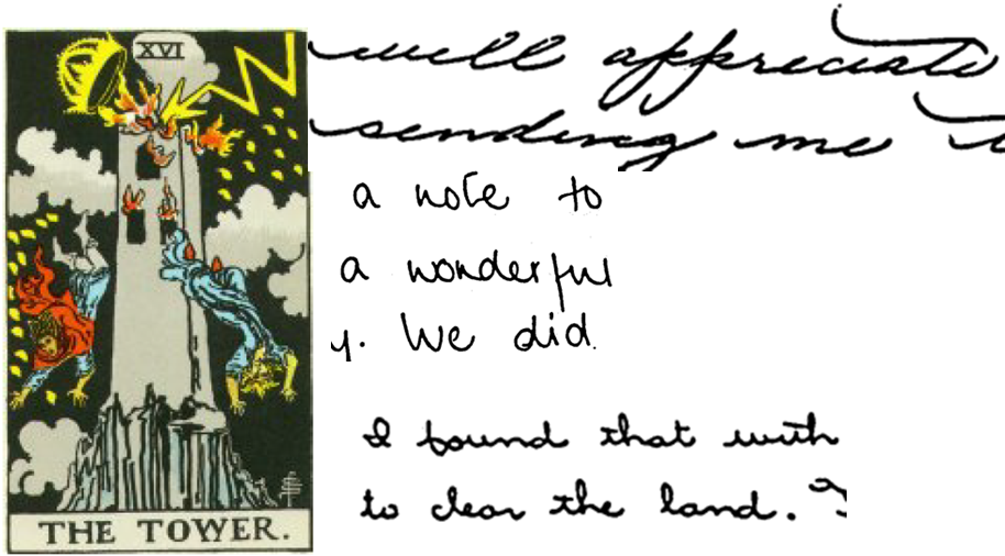 The Tower and handwriting