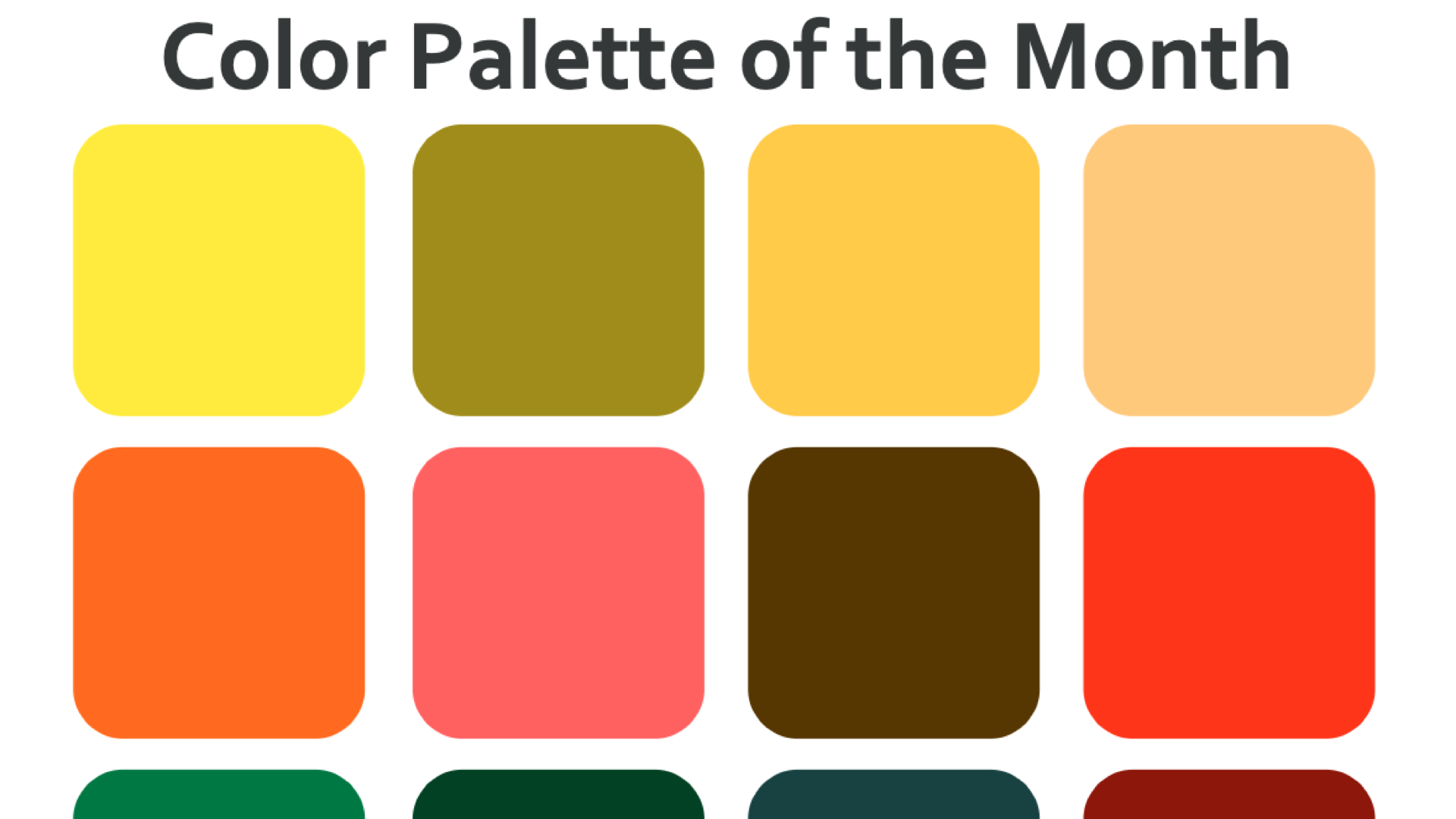 Color Lab: Color Palette of the Month