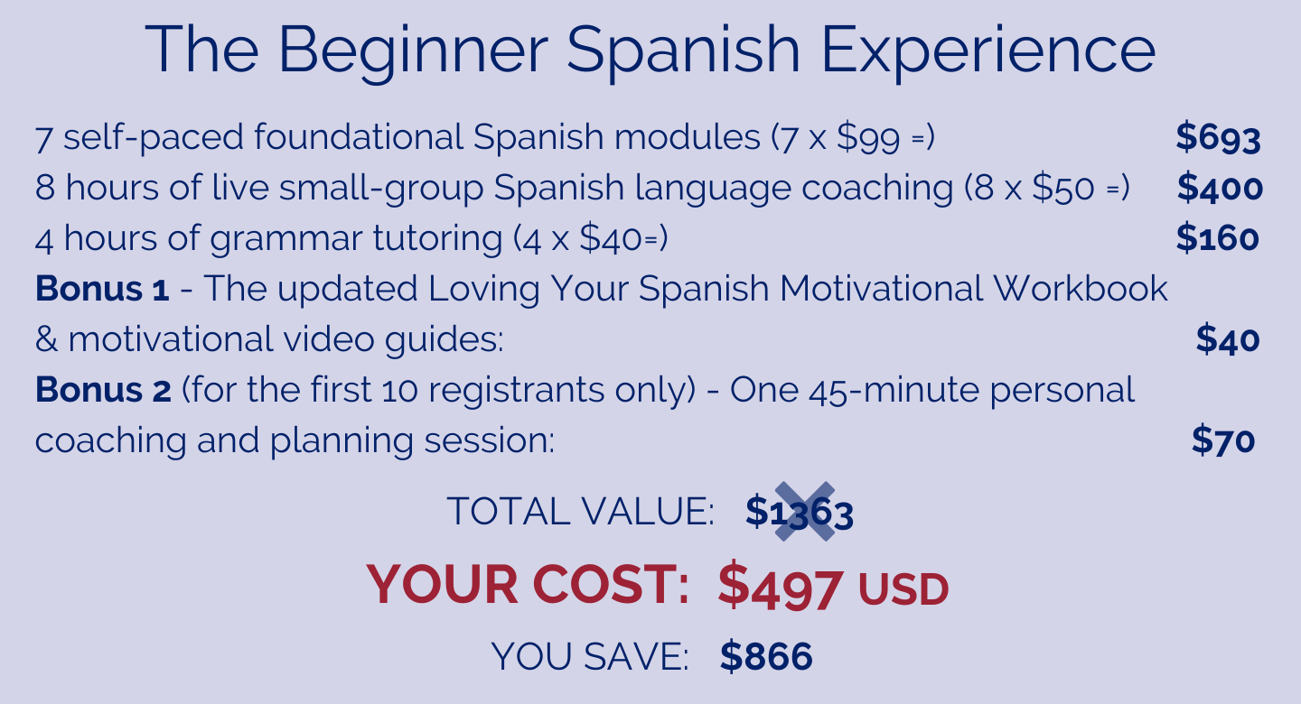 The Beginner Spanish Experience Cost