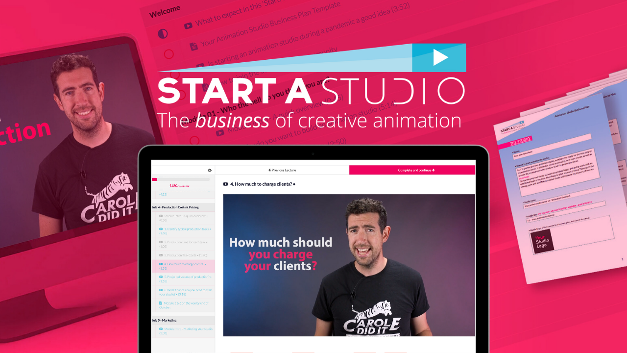 Start an animation studio