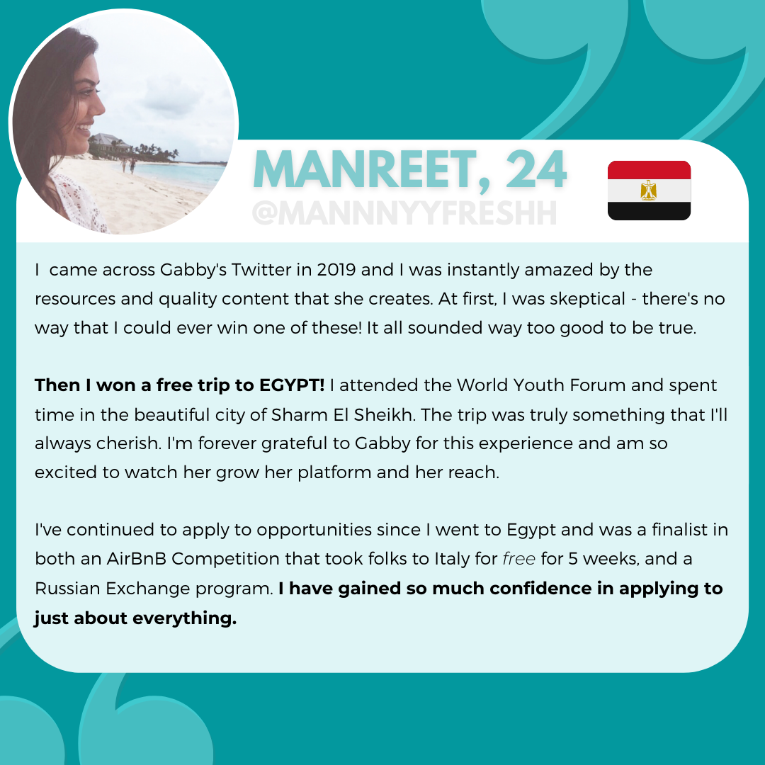 Manreet, Tips to Winning Study Abroad Scholarship