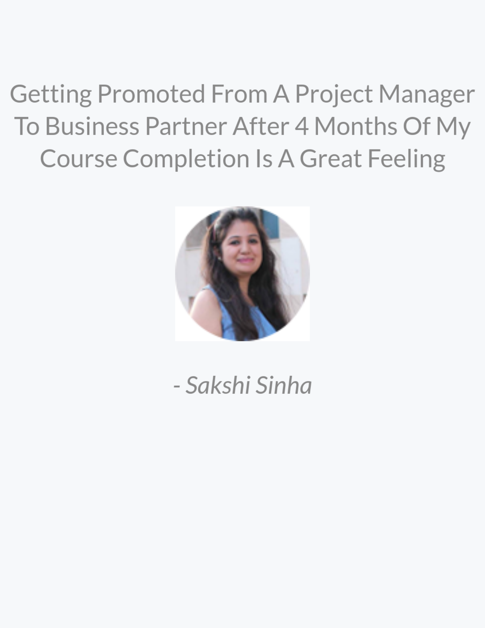 review by customer for web design course in india