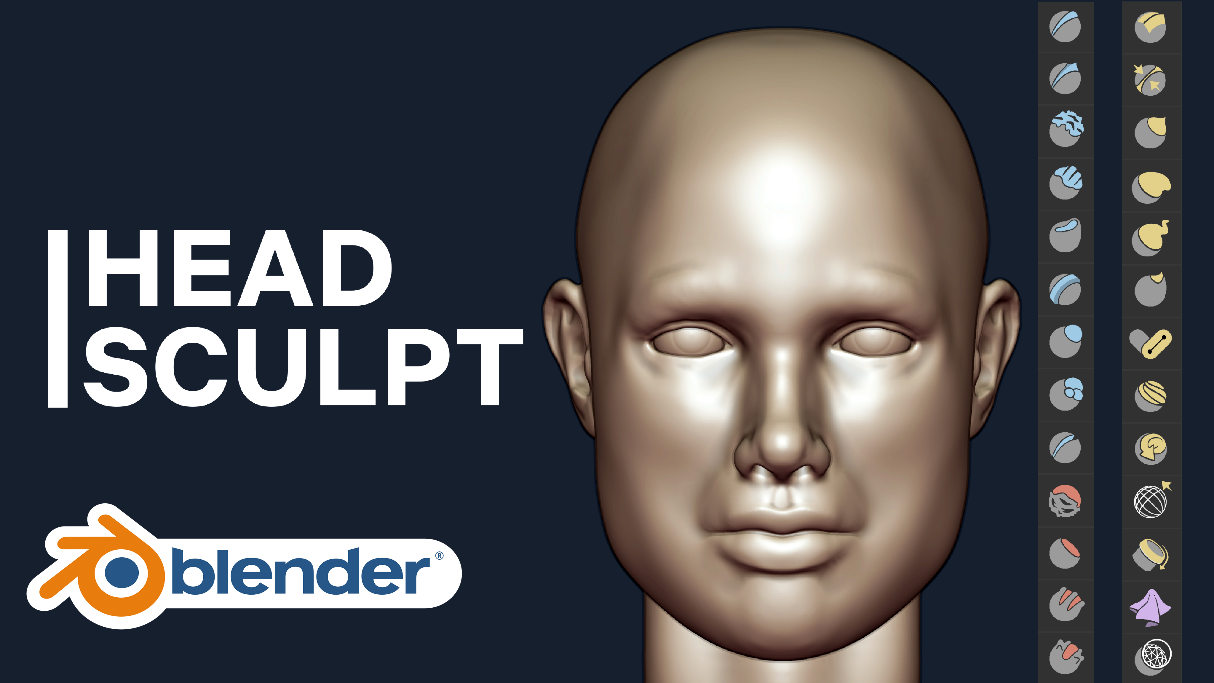 Sculpting Head Introduction Blender Course Academy Beginner