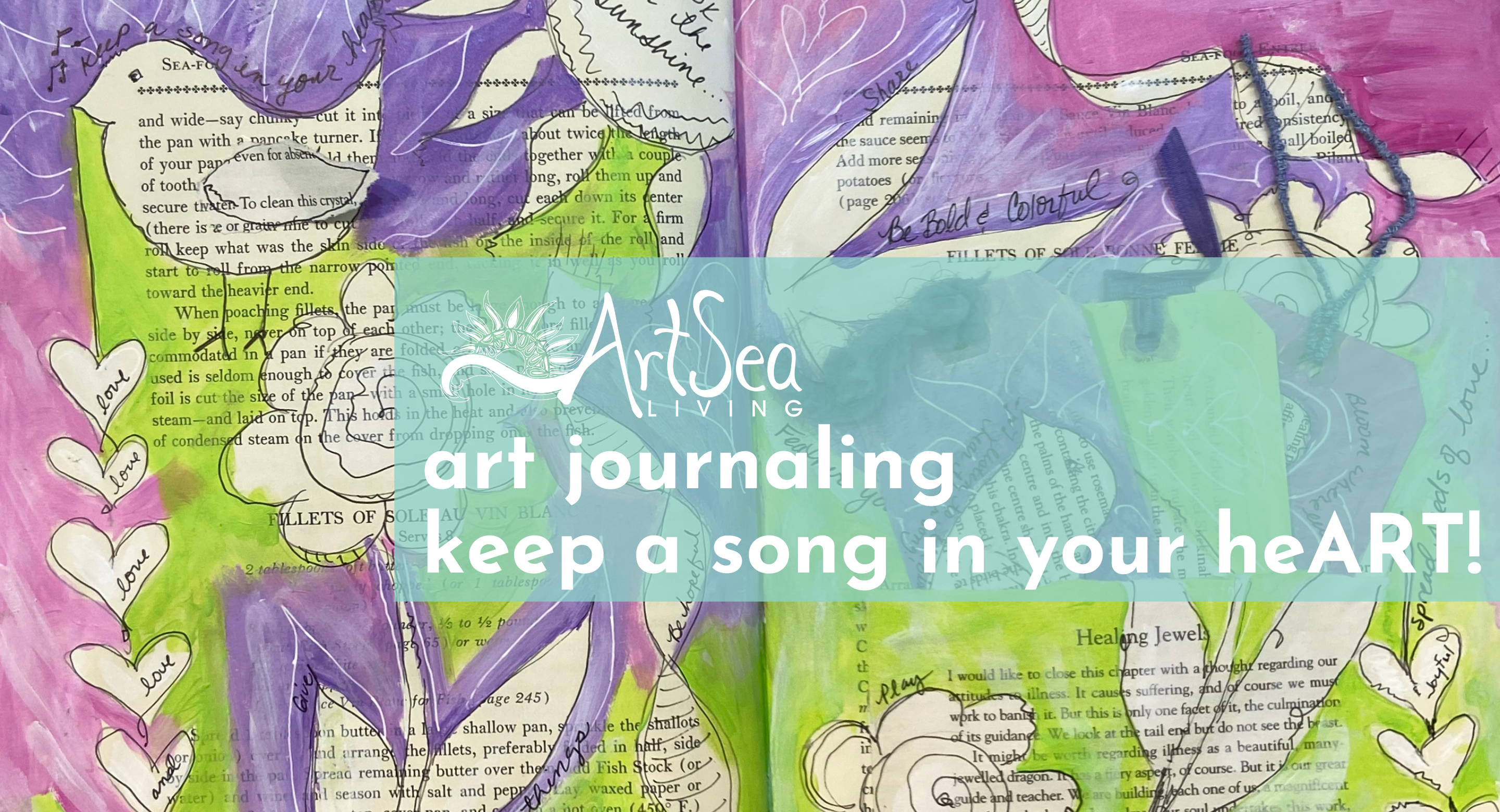 Art Journaling | Keep a Song in Your heART!