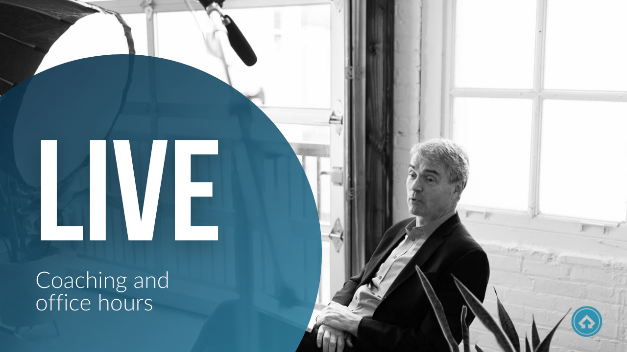 Level 3 members get access to Mark Hunter's live coaching and office hours every month.