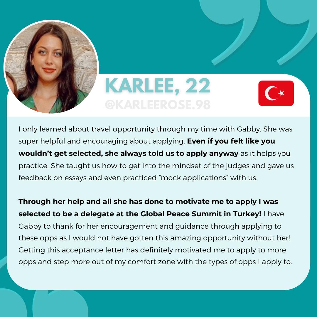 Karlee, Tips to Winning Leadership Program