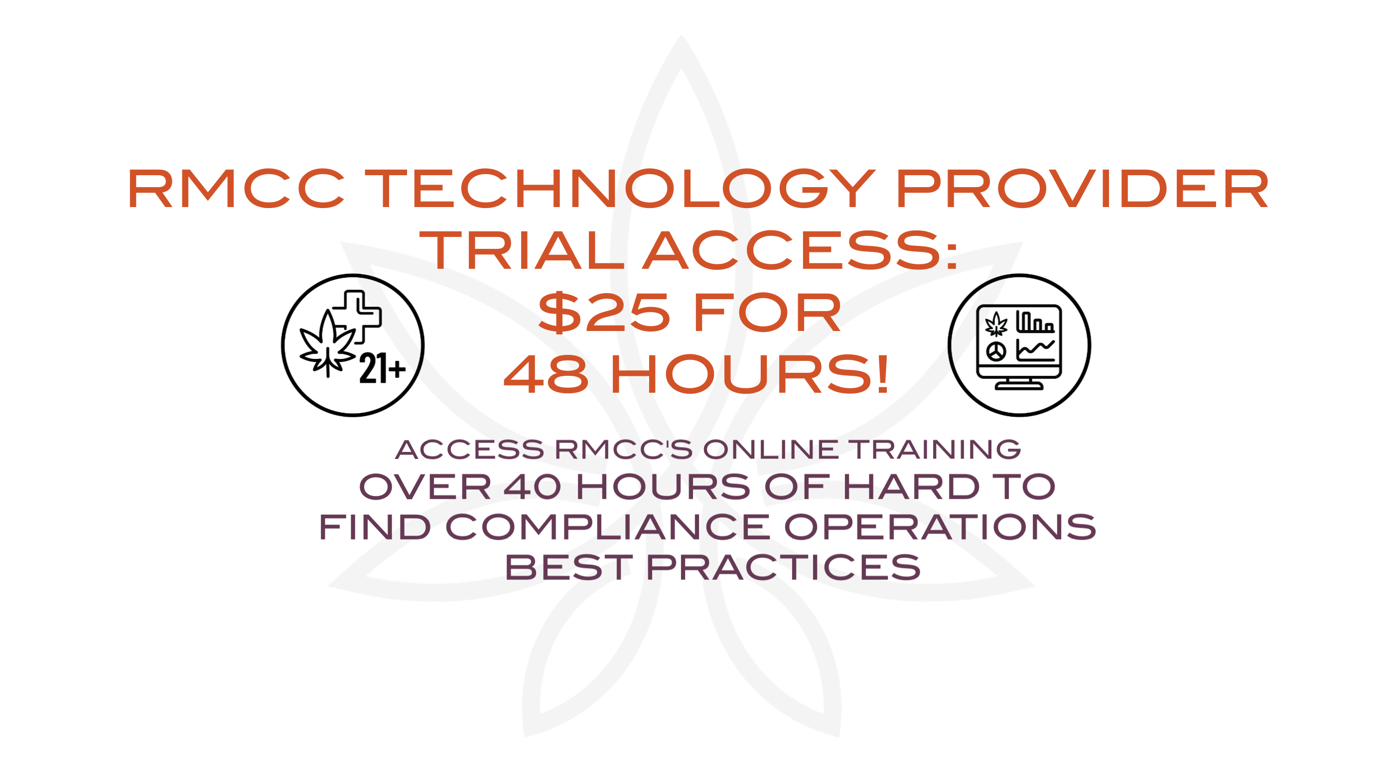 RMCC TECHNOLOGY PROVIDER  TRIAL ACCESS: