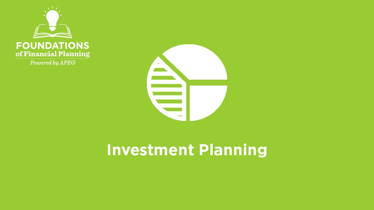 APEG Investment Planning Single Topic Course