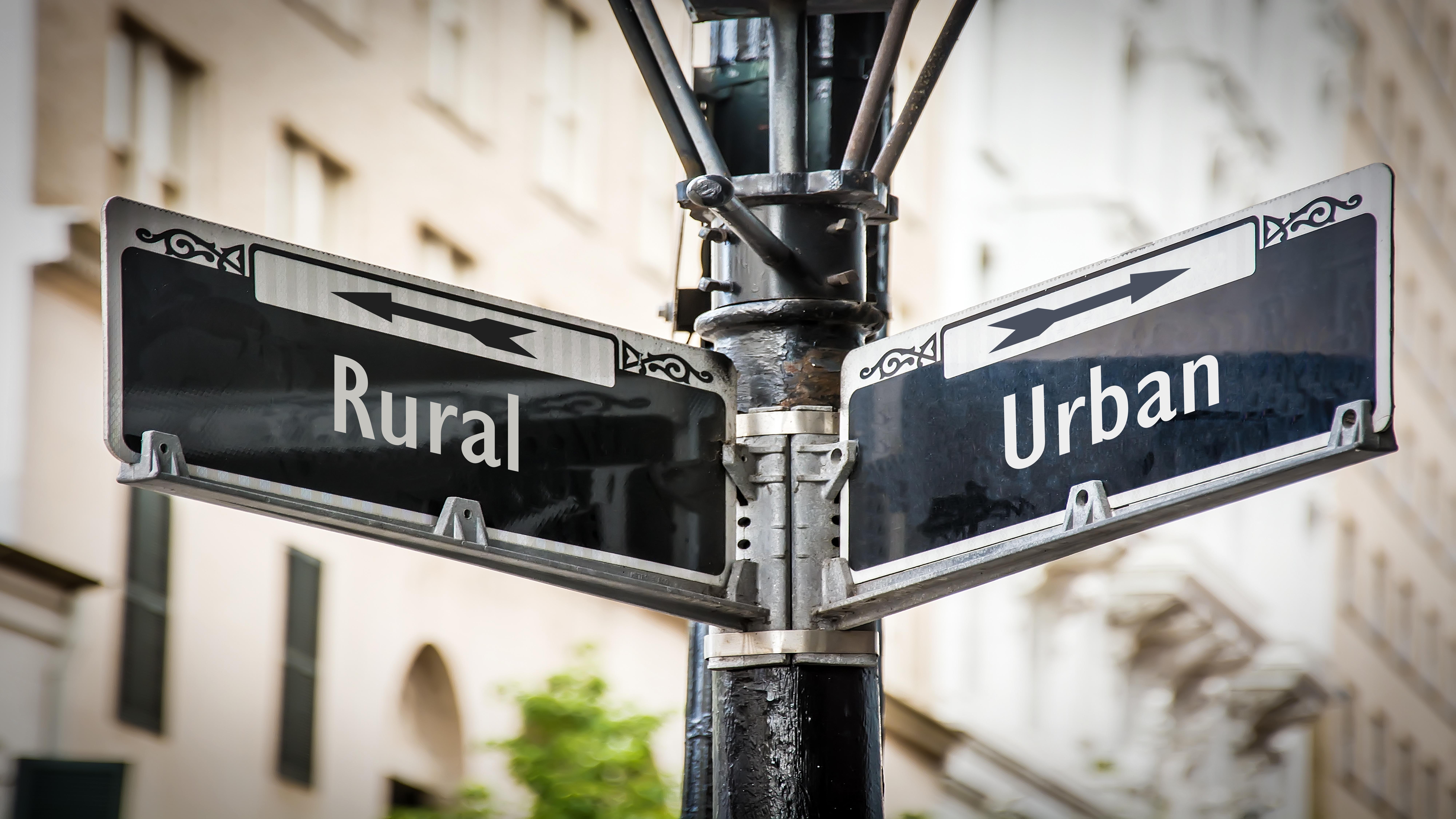 urban vs rural picture