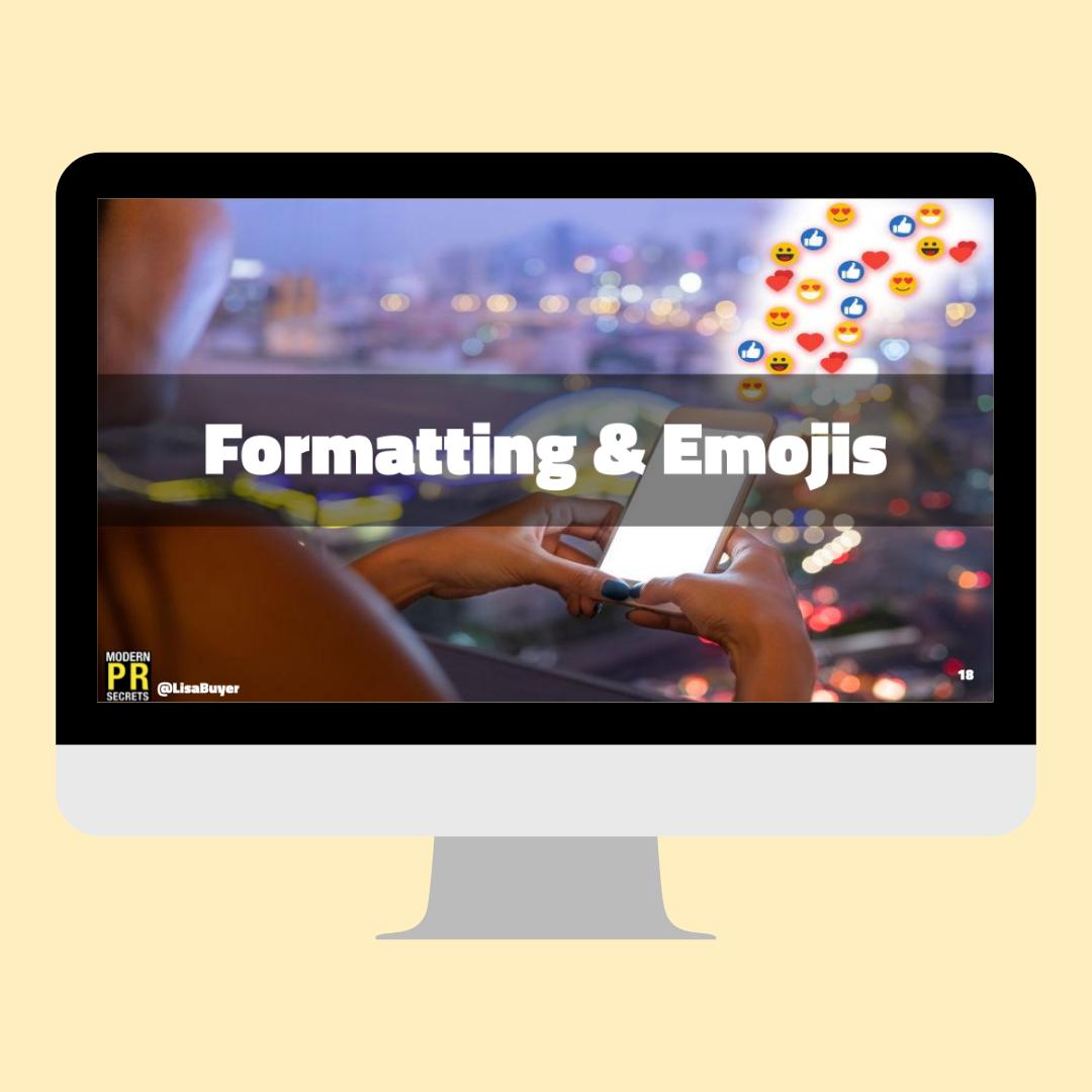 formatting and emojis