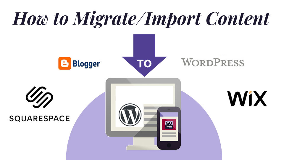 how to migrate/import content