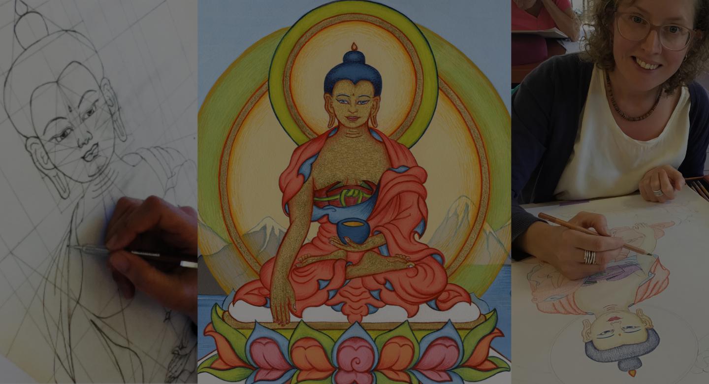 Buddha Shakyamuni drawing and painting course