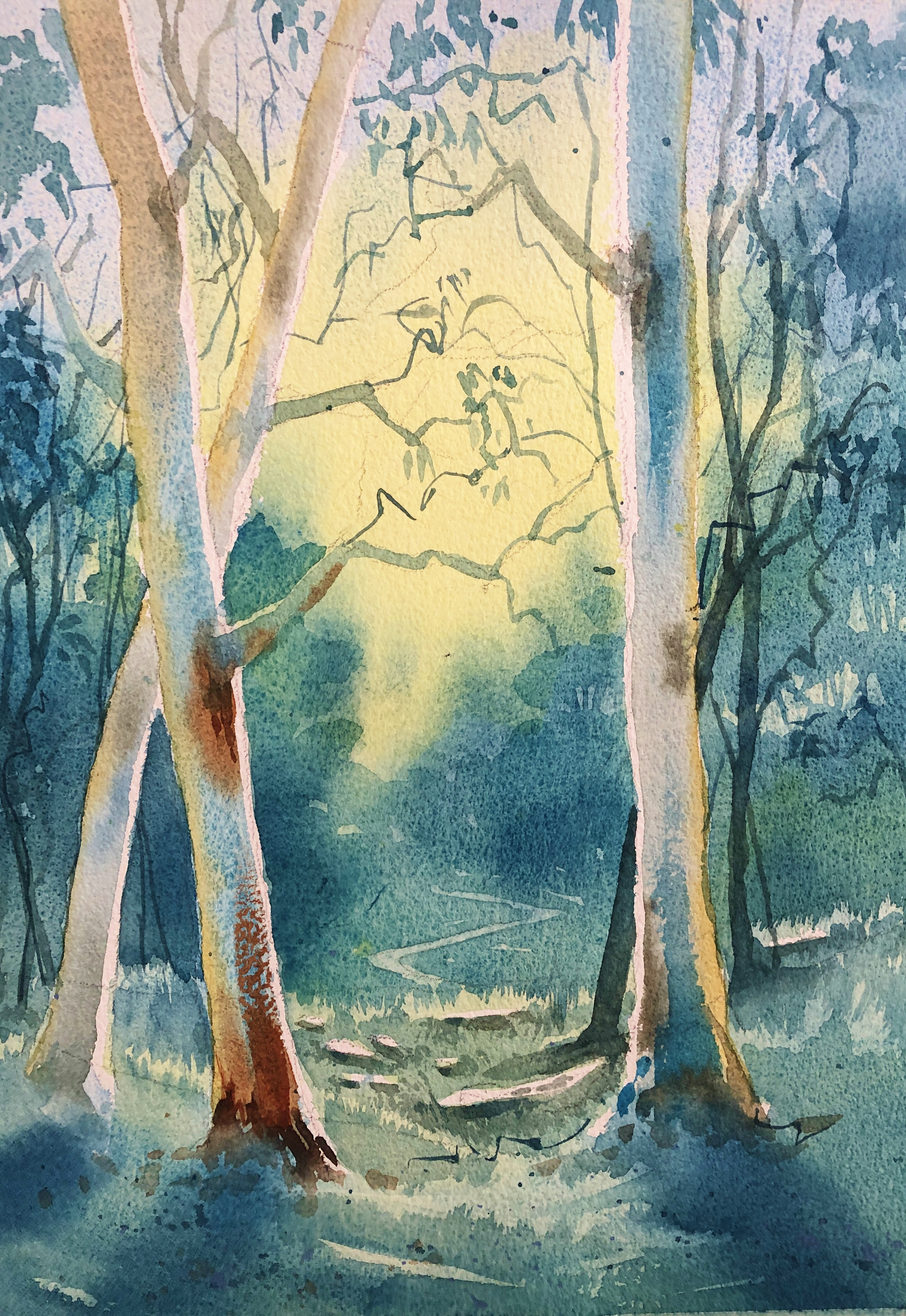 Watercolour tutorial Classes Workshops Online for beginners with Jenny Gilchrist
