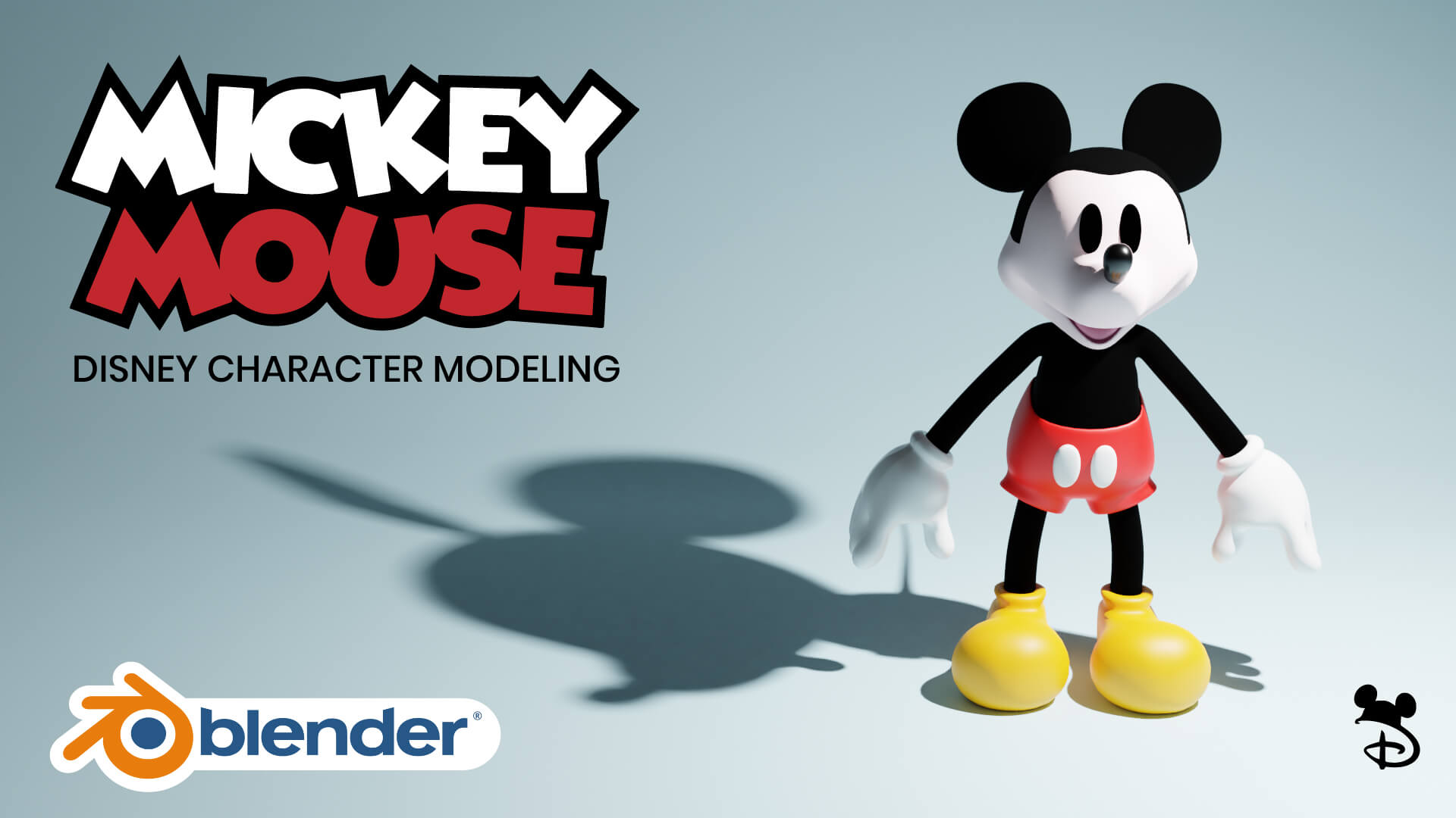 3D Mickey Mouse Disney Character Blender Academy Course
