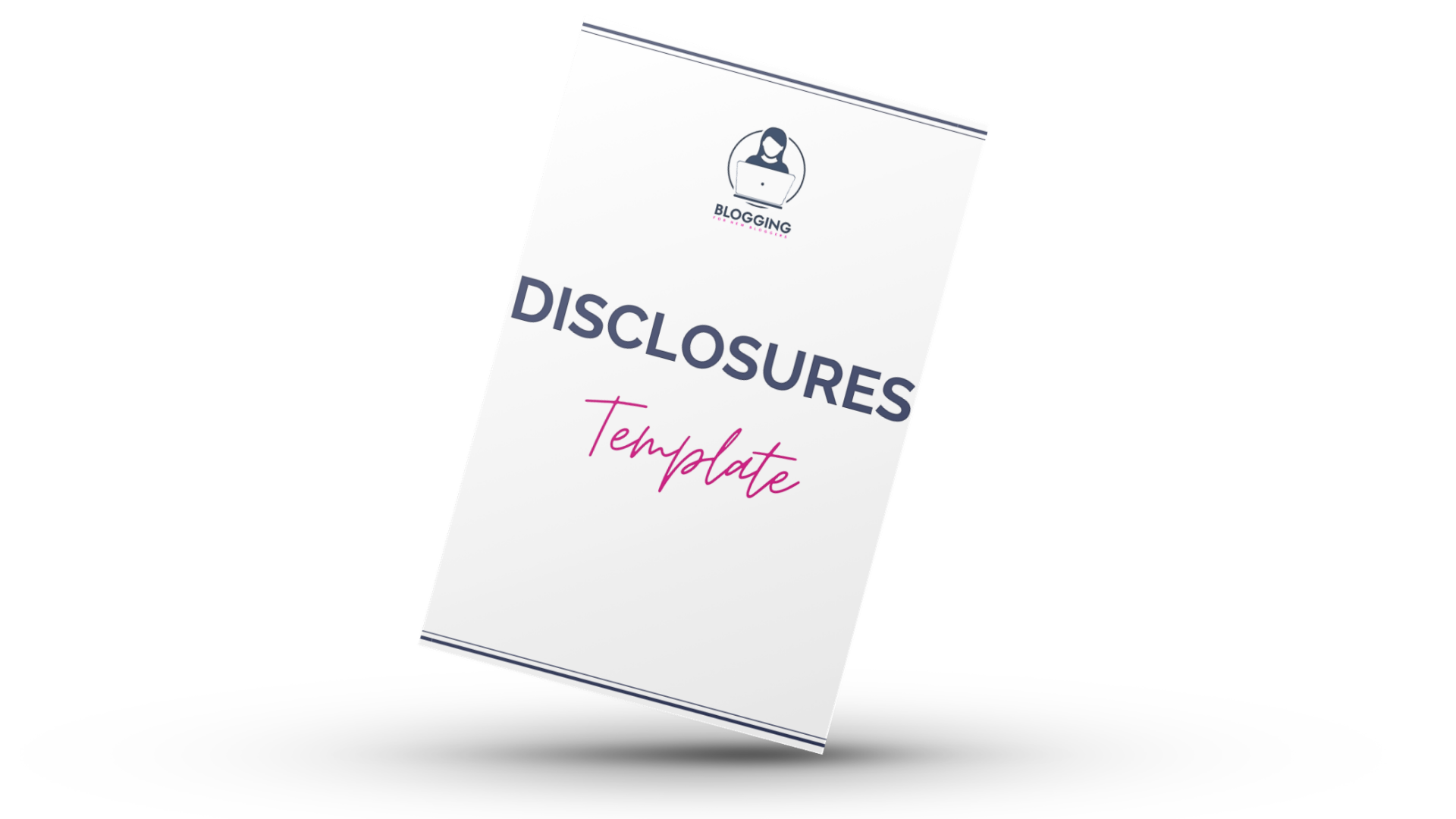 Affiliate disclusre template for blogs