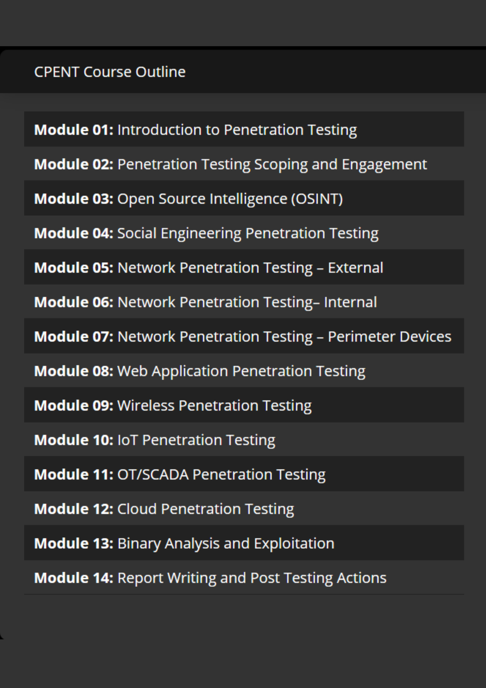 Certified Penetration Testing Professional or CPENT