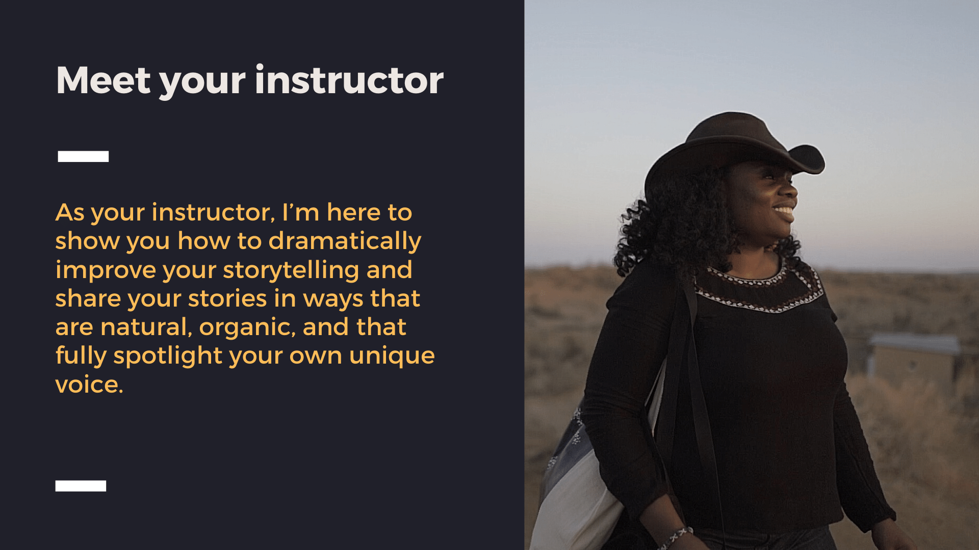 Meet your instructor - Lola Akinmade Åkerström