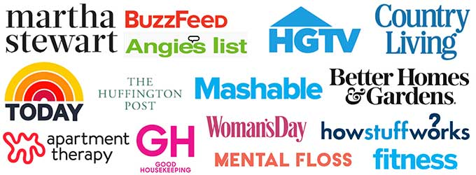 collage of brands featuring the happier homemaker blog