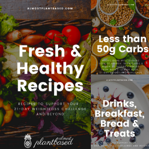 3 recipe booklets: fresh and healthy recipes, below 50gr carbs and breakfast recipes