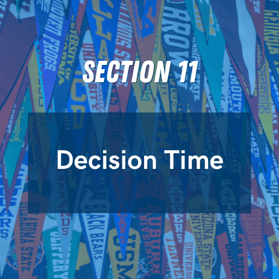 Section 11 - Decision Time