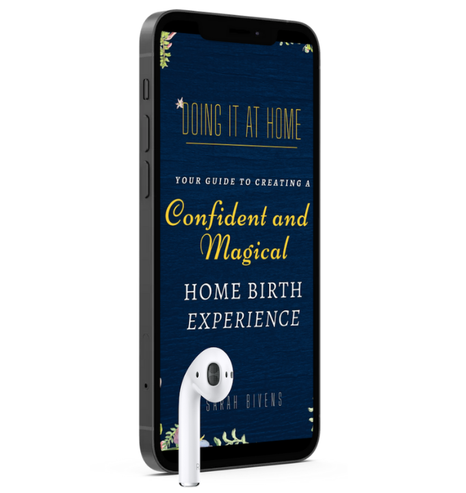 Home birth book on a mobile device as an audiobook