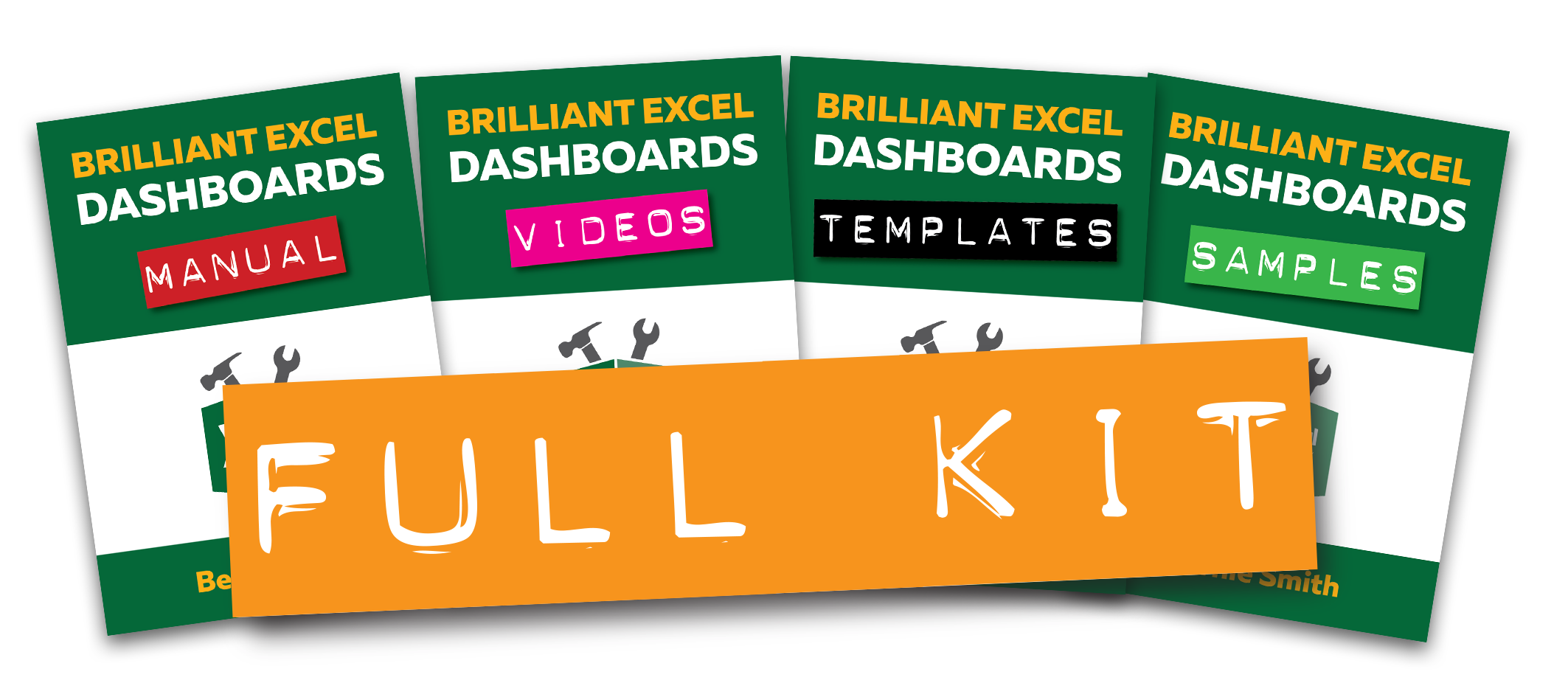 Brilliant Excel Dashboards Kit - Full Kit Image