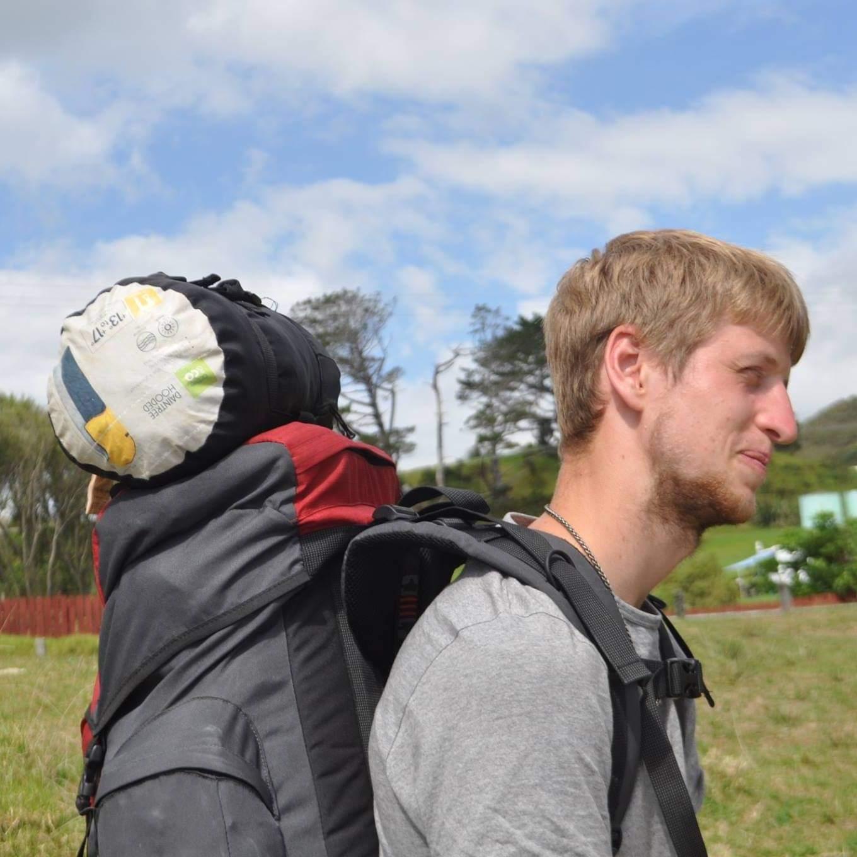 Permaculture volunteer Josh Stobart