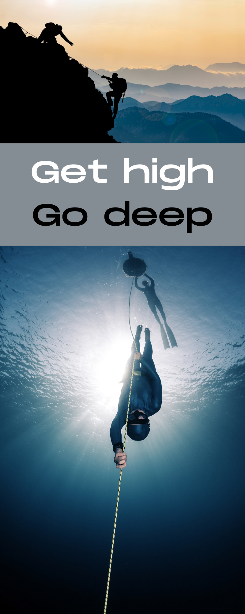 Mountain climber and freediver