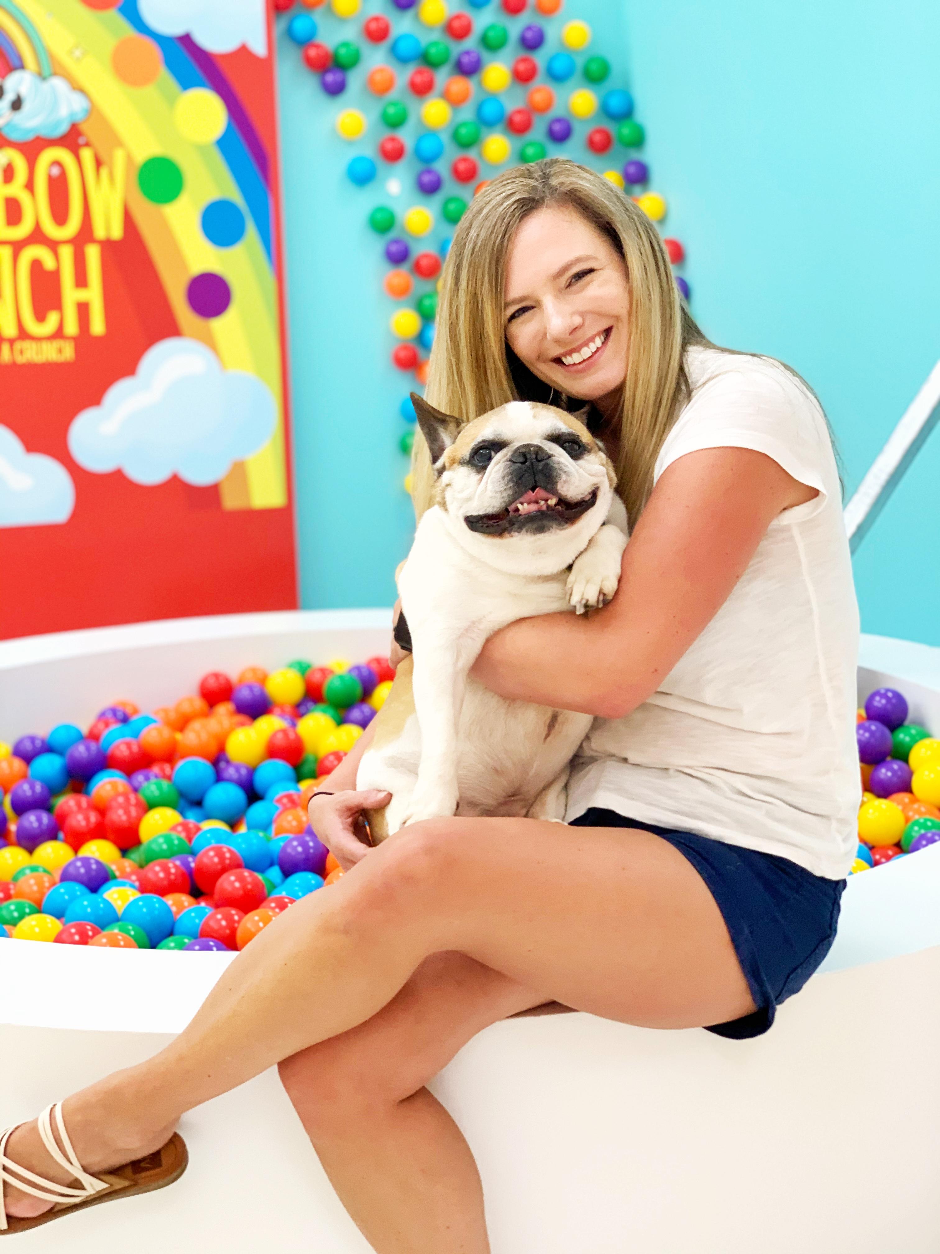 Whitney with her dog Tojo